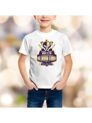 Quetta Gladiators Psl Kids T-Shirt in White