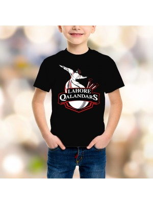 Lahore Qalandars Psl Kids T-Shirt in Black