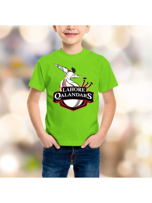 Lahore Qalandars Psl Kids T-Shirt in Parrot Green