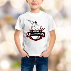 Lahore Qalandars Psl Kids T-Shirt in White