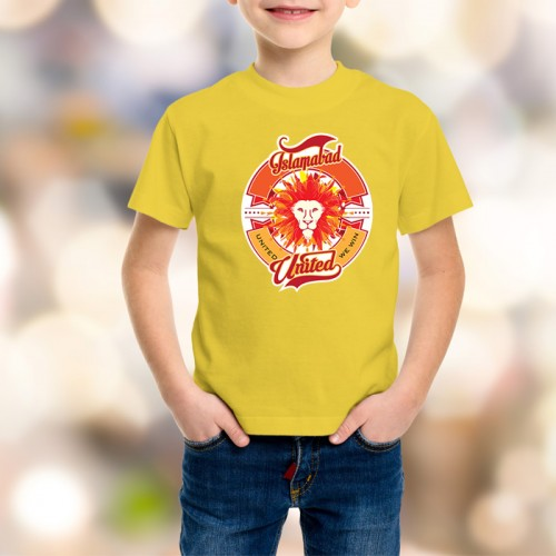 Islamabad United Psl Kids T-Shirt in Yellow