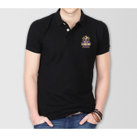 Quetta Gladiators Psl Polo T-Shirt in Black