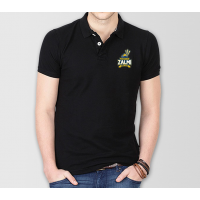 Peshawar Zalmi Psl Polo T-Shirt in Black