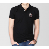 Lahore Qalandars Psl Polo T-Shirt in Black