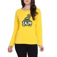 Peshawar Zalmi Psl Women T-Shirt in Yellow