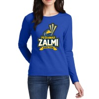 Peshawar Zalmi Psl Women T-Shirt in Blue