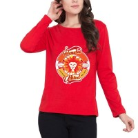 Islamabad United Psl Women T-Shirt in Red