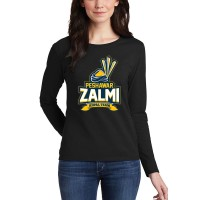 Peshawar Zalmi Psl Women T-Shirt in Black