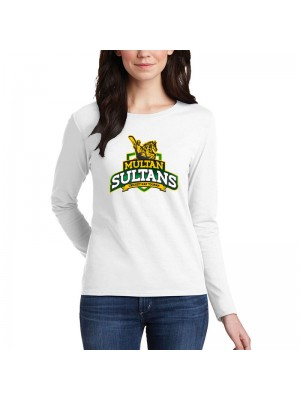 Multan Sultan Psl Women T-Shirt in White