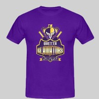 Quetta Gladiators Psl Purple T-Shirt