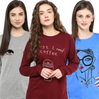 Bundle Of 3 Women's Printed T-Shirts D 7