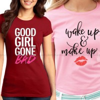 Bundle Of 2 Women's Printed T-Shirts D 5