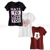 Bundle Of 3 Women's Printed T-Shirts D 2