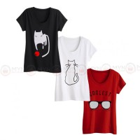Bundle Of 3 Women's Printed T-Shirts D 4