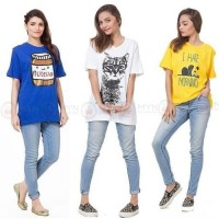 Bundle Of 3 Women's Printed T-Shirts D 5