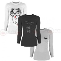 Bundle Of 3 Women's Printed T-Shirts D 6