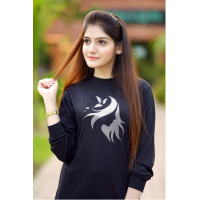 Women Face Design Logo Full Sleeves T-Shirt