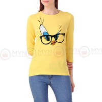 Tweety Full Sleeves T-Shirt in Yellow