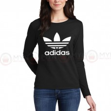 Adidas Full Sleeves T-Shirt in Black