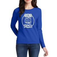 Girl Power Full Sleeves T-Shirt in Royal Blue