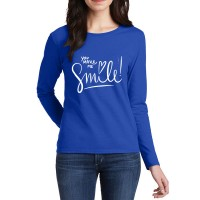 Make Me Smile Full Sleeves T-Shirt in Royal Blue