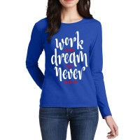 Work Hard Full Sleeves T-Shirt in Royal Blue