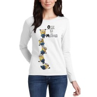 One I A Minion Full Sleeves T-Shirt in White