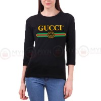 Gucci Full Sleeves T-Shirt in Black