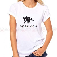 Friends White Printed T-Shirt