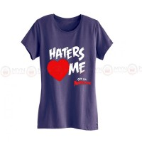 Haters Me Purple Printed T-Shirt