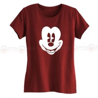 Micky Face Maroon T-Shirt