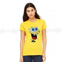 Sponge Bob Yellow Printed T-Shirt