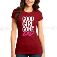 Good Girl Maroon Printed T-Shirt