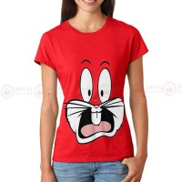 Bugs Bunny Red Printed T-Shirt