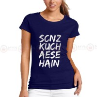 Scenz Blue Printed T-Shirt