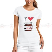 Nutella White Printed T-Shirt