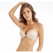 Strapless Push Up Invisible Wireless Silicone Bra