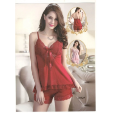 Bridal Sexy Short Nighty In Red