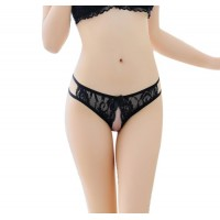 Women Thong Bragas Sexy Panties Thong Lace in Black