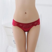 Women Thong Bragas Sexy Panty Thong Lace in Maroon