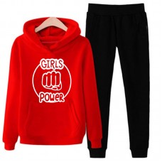 Girls Power Red Tracksuit For Women