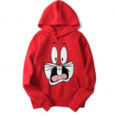 Bugs Bunny Red Hoodie For Women's