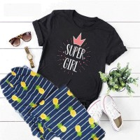 Super Girl Black T-Shirt with Printed Pajama