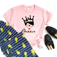 Pink Queen T-Shirt with Printed Pajama