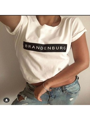 Brandenburg Half Sleeves Round Neck T-Shirt