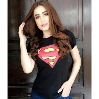 Superman Half Sleeves Printed T-Shirt for Women's