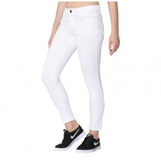 Women Stretchable Slim Fit White Jeans