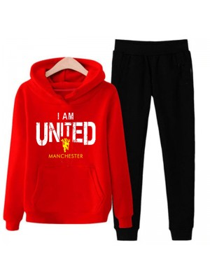 Iam United Red Tracksuit For Men's