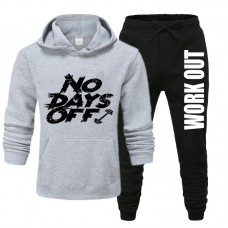 No Days Off Gray Tracksuit For Men's
