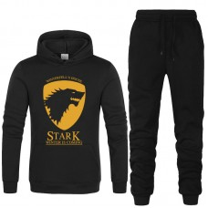 Black Stark Winter Tracksuit For Men's